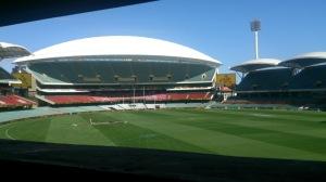 View from inside the scoreboard.