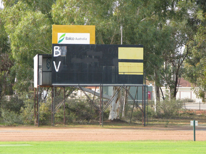 The Brookton scoreboard in 2009.