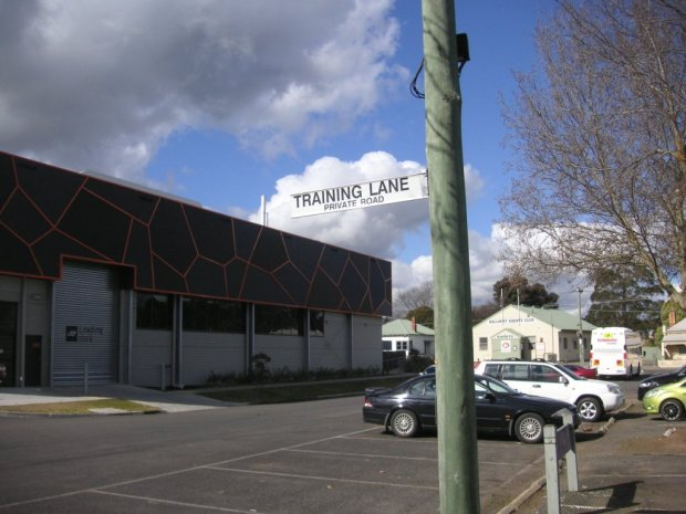 Training Lane, in the Golden Point car park.