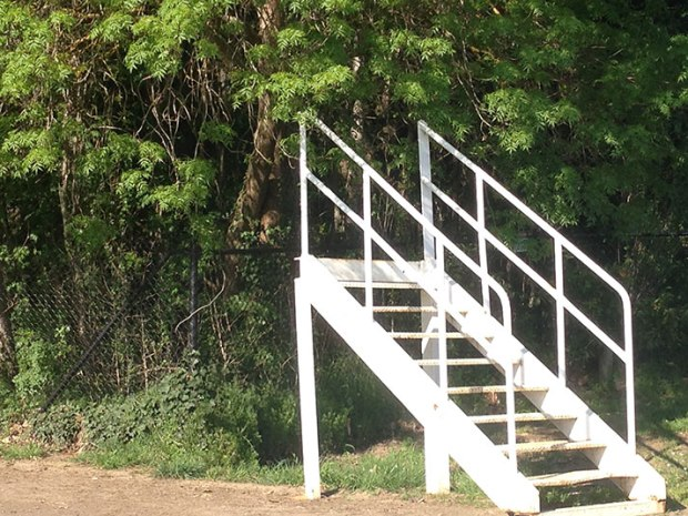 The stairs to the old scoreboard?