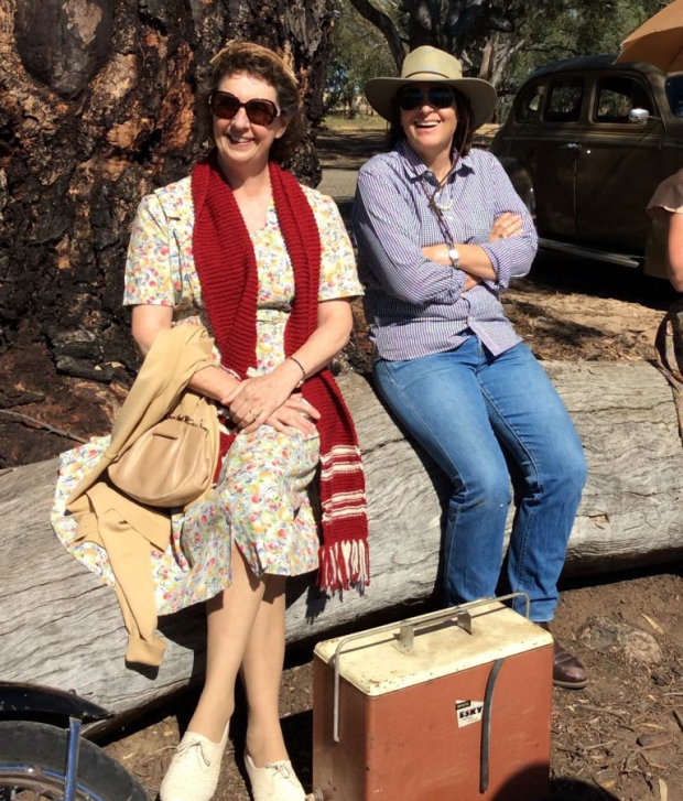Rosalie Hamm, author of the novel The Dressmaker, and Sue Maslin, producer of the film.
