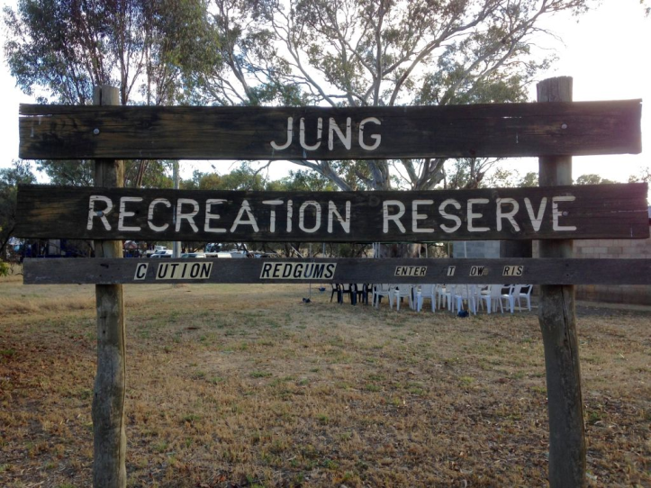 Beware of falling redgum branches at Jung Recrecreation Reserve.