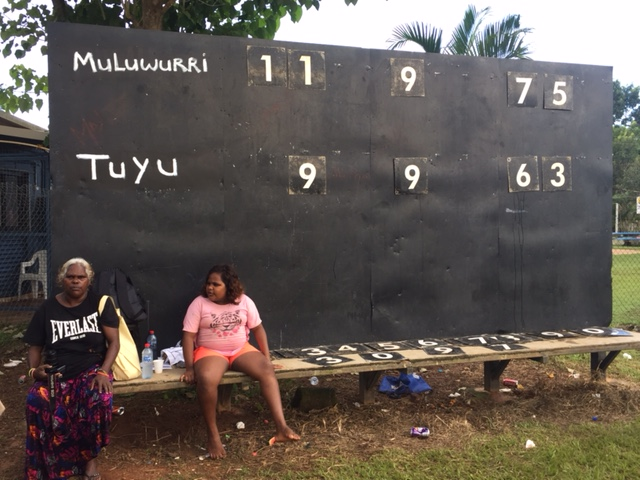 Final score. Victory, and premiership, to Muluwurri. Photo courtesy of Phil Young.