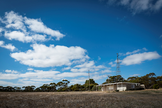 The old clubrooms are all that's left at the Jabuk footy ground.