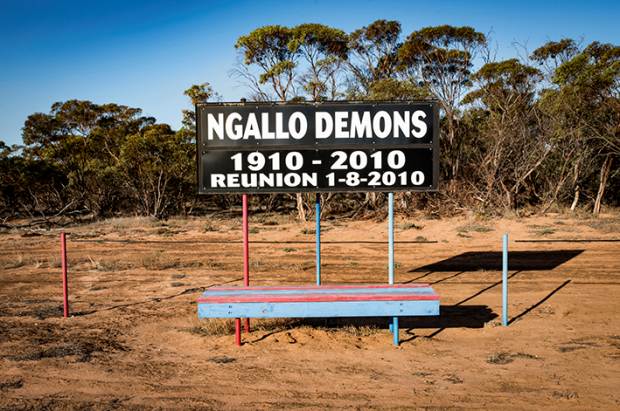 A nice commemoration at Ngallo. Folded in 2000. Never let an old scoreboard go to waste.