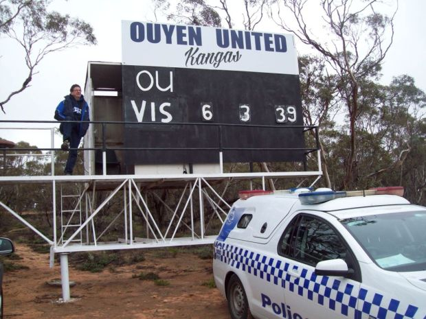 Geoff Amos, scoreboard superstar of Sunraysia.