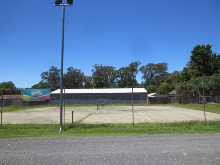 Alas, no lawn courts at Whitfield.